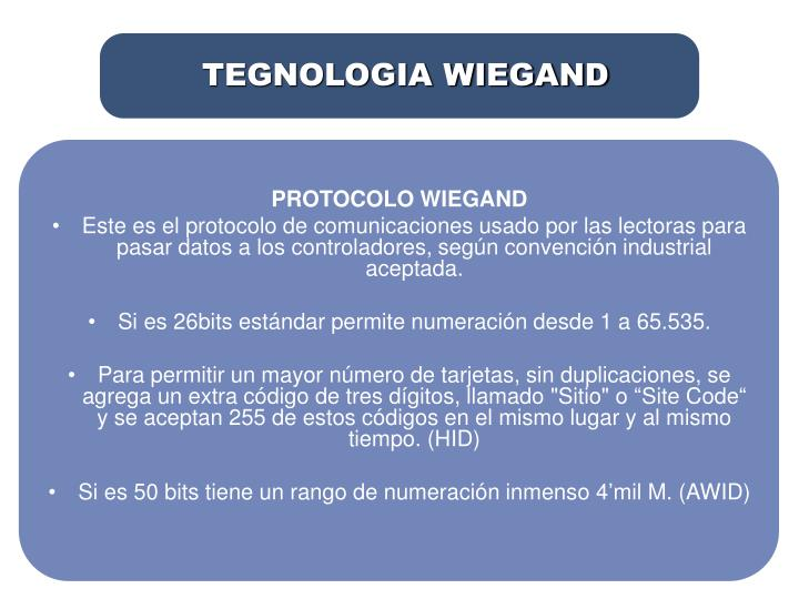 TEGNOLOGIA WIEGAND