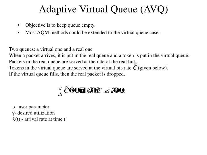 Adaptive Virtual Queue (AVQ)