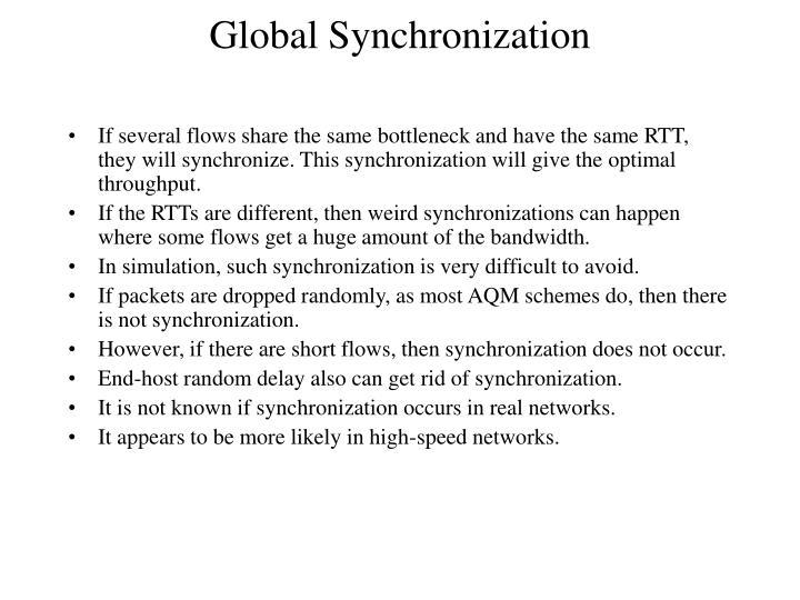 Global Synchronization