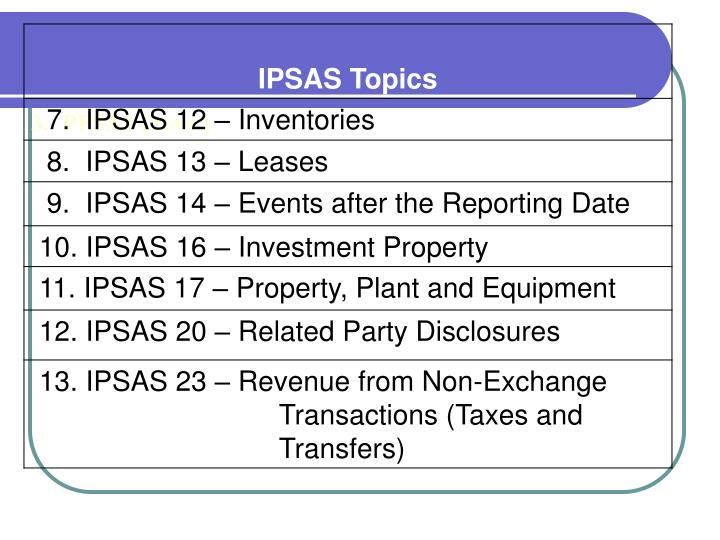 3.  PPSAS (cont.)