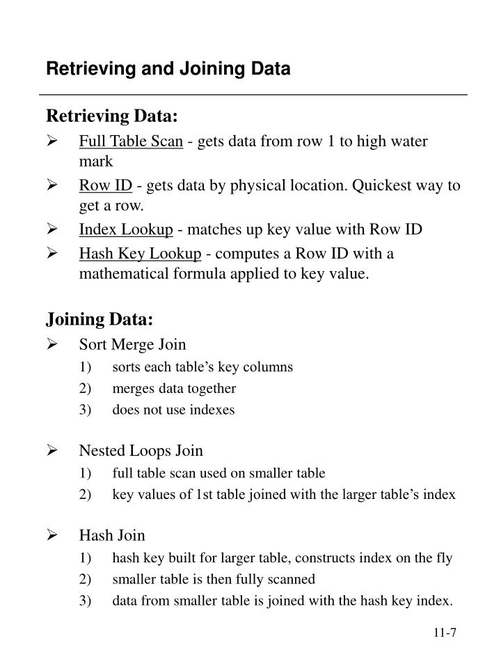 Retrieving and Joining Data