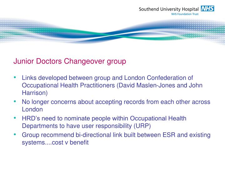 Junior Doctors Changeover group