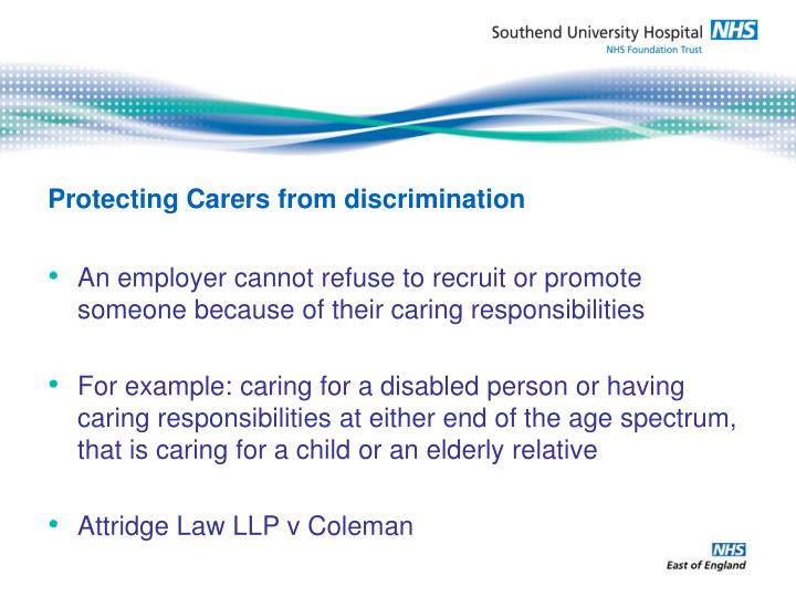 Protecting Carers from discrimination