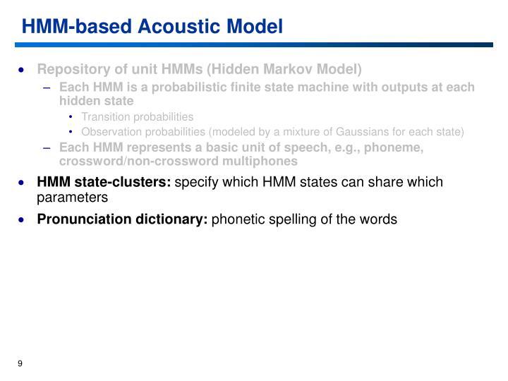 HMM-based Acoustic Model