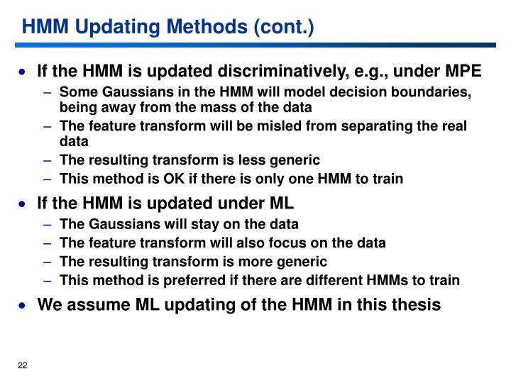 HMM Updating Methods (cont.)