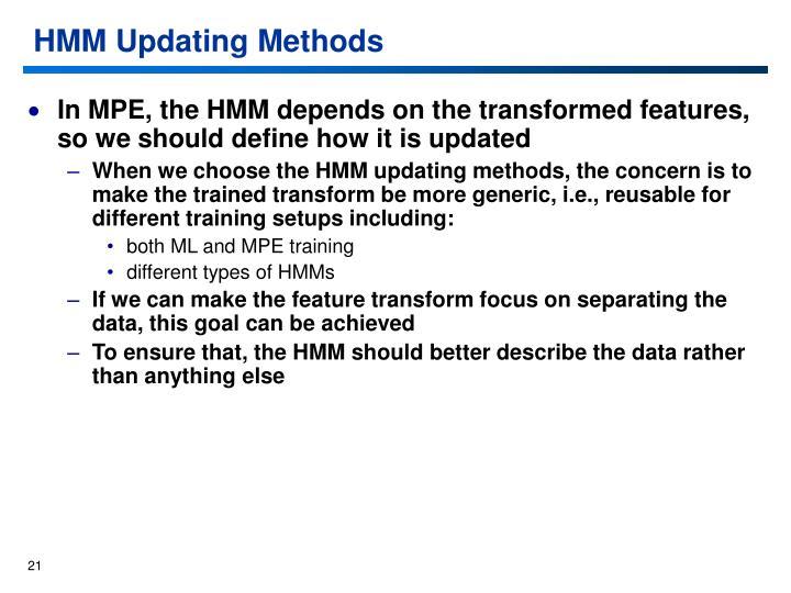 HMM Updating Methods