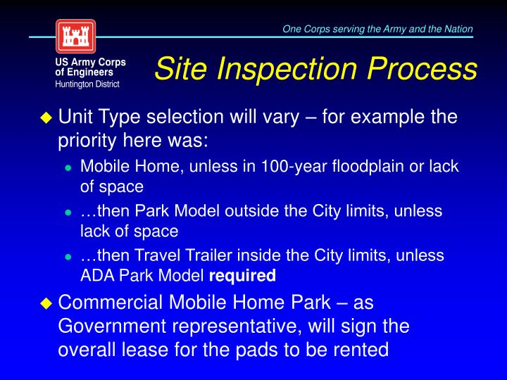Site Inspection Process