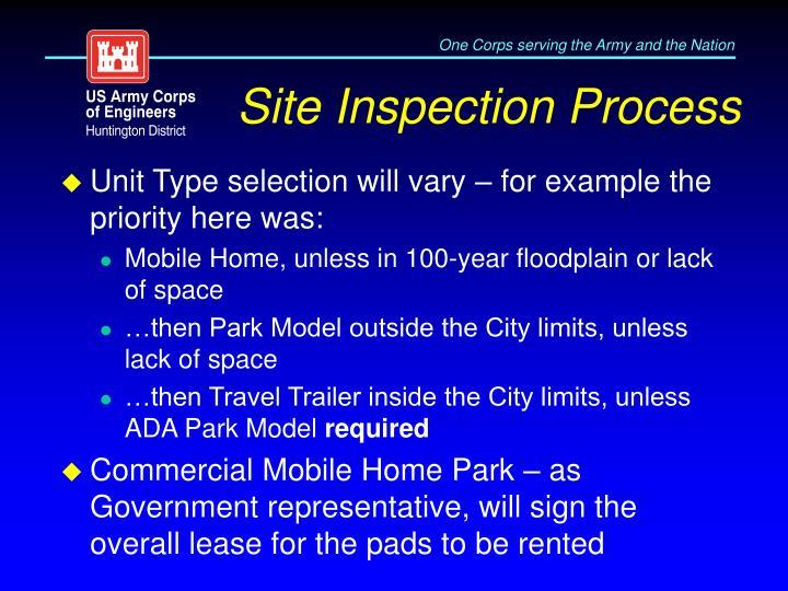 Site Inspection Process