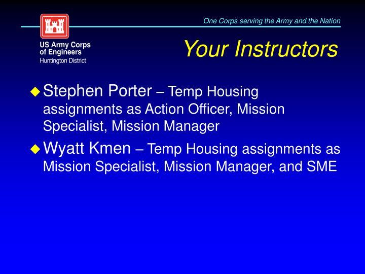 Your Instructors