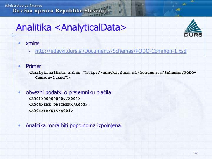 Analitika <AnalyticalData>