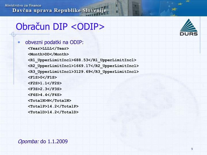 Obračun DIP <ODIP>