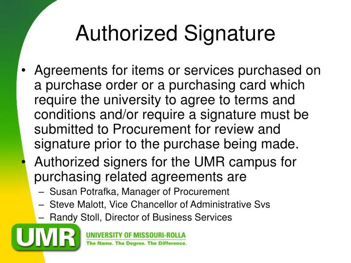 Authorized Signature