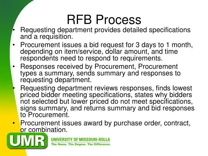 RFB Process