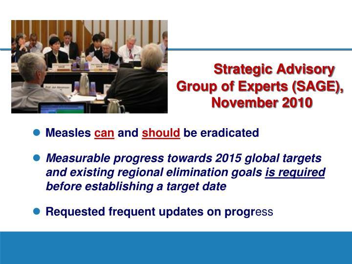 Strategic Advisory Group of Experts (SAGE),