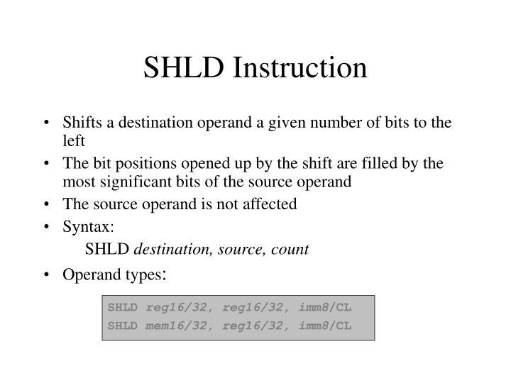 SHLD Instruction