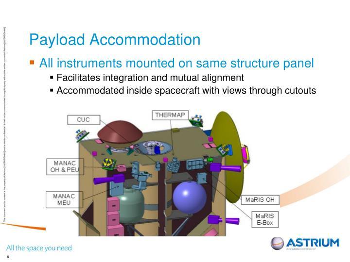 Payload Accommodation