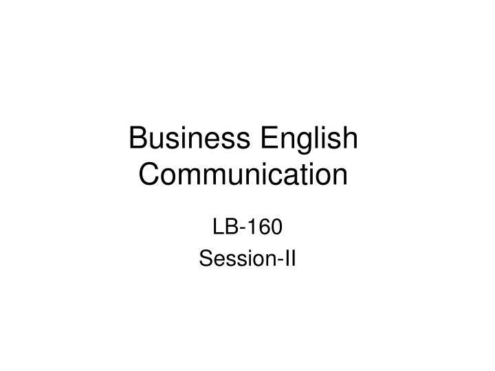 Business English Communication