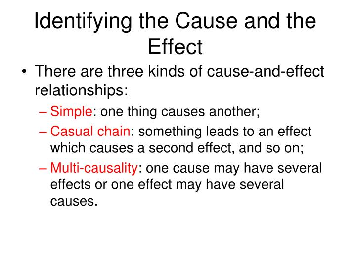 Identifying the Cause and the Effect