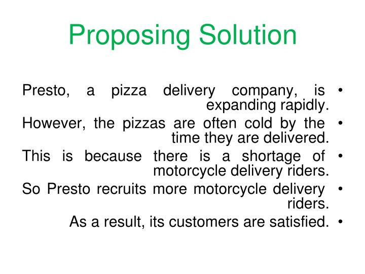 Proposing Solution