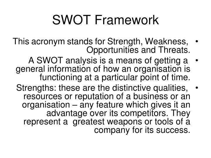 SWOT Framework