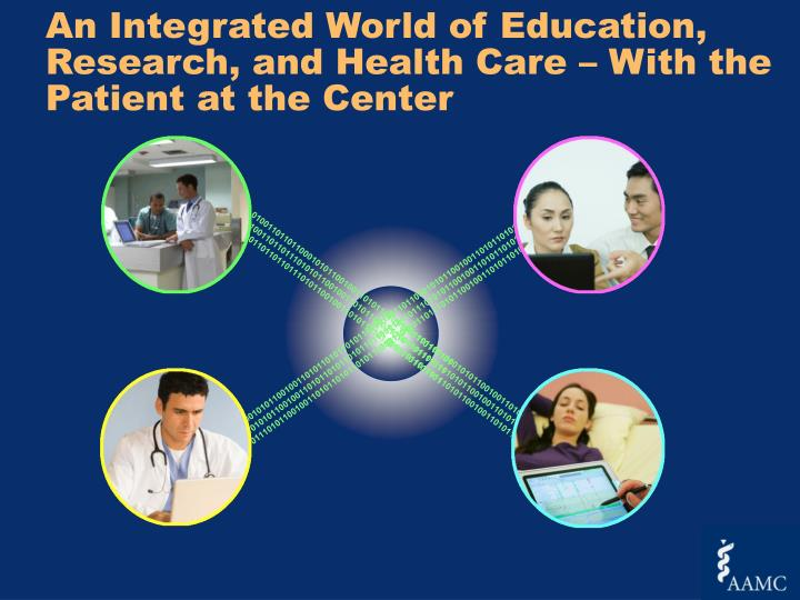 An Integrated World of Education, Research, and Health Care – With the Patient at the Center