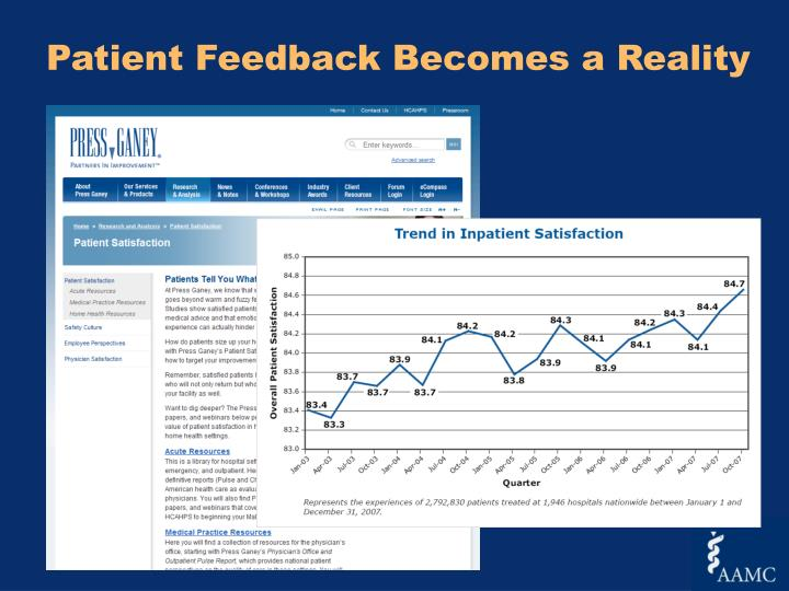 Patient Feedback Becomes a Reality