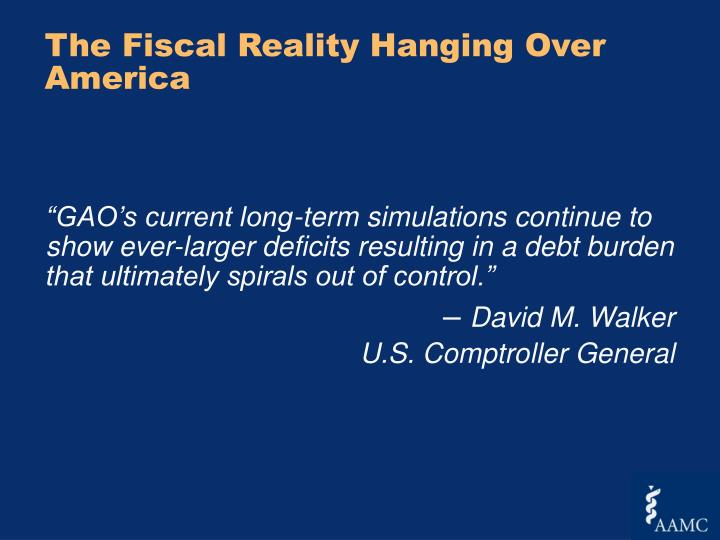 The Fiscal Reality Hanging Over America