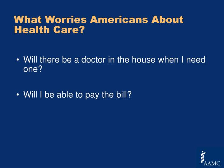 What Worries Americans About Health Care?