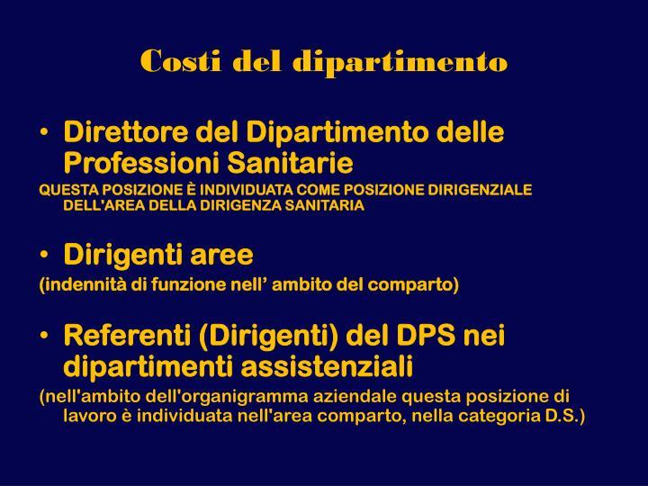 Costi del dipartimento