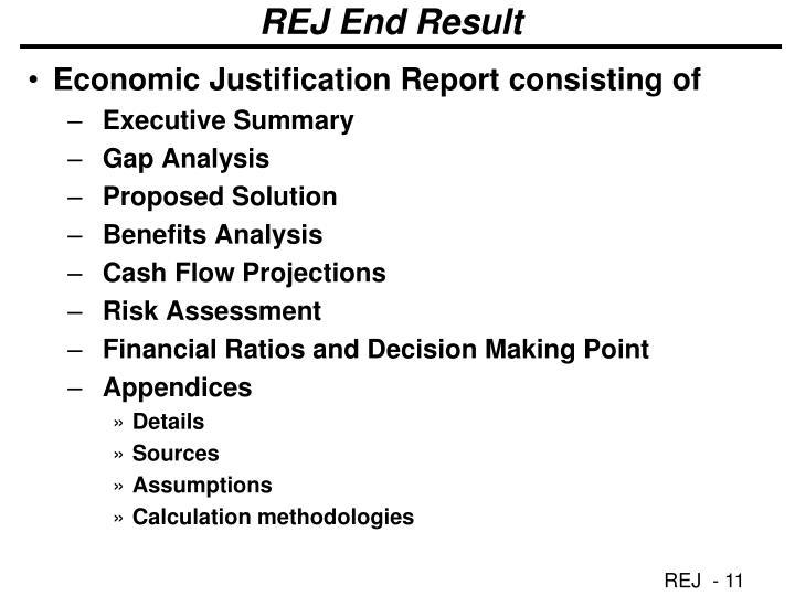 REJ End Result
