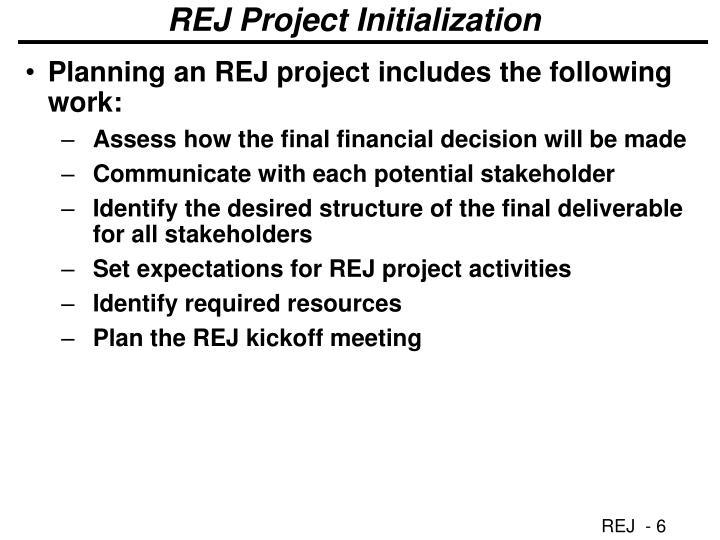 REJ Project Initialization