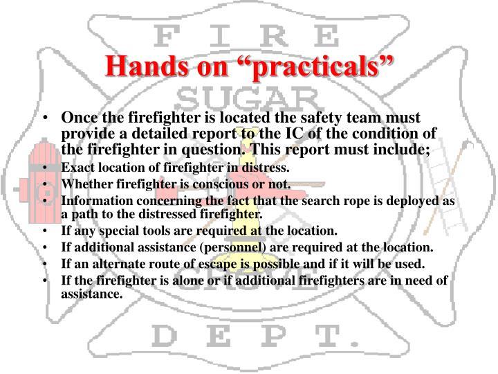 """Hands on """"practicals"""""""