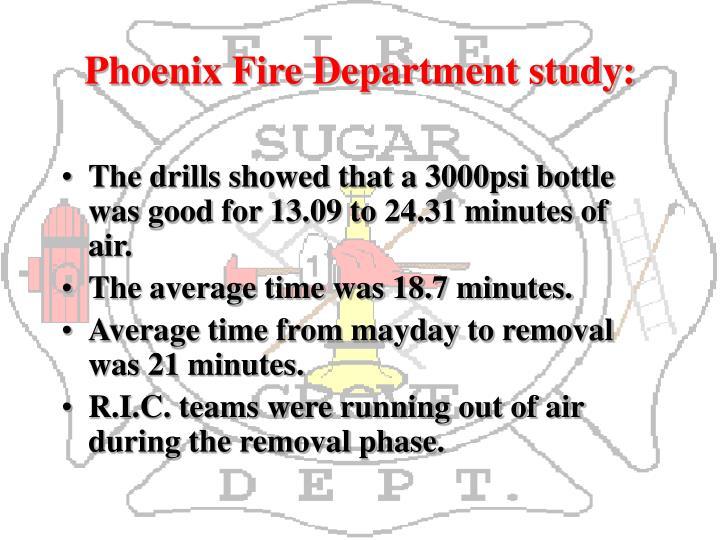 Phoenix Fire Department study: