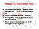 phoenix fire department study