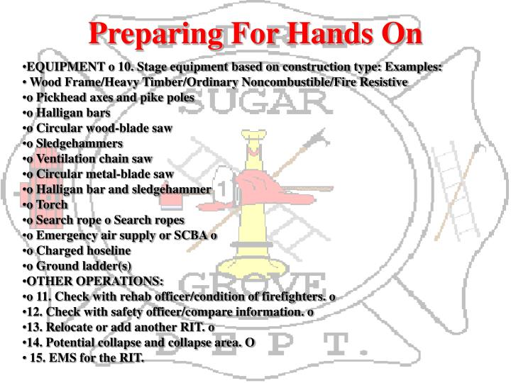 Preparing For Hands On