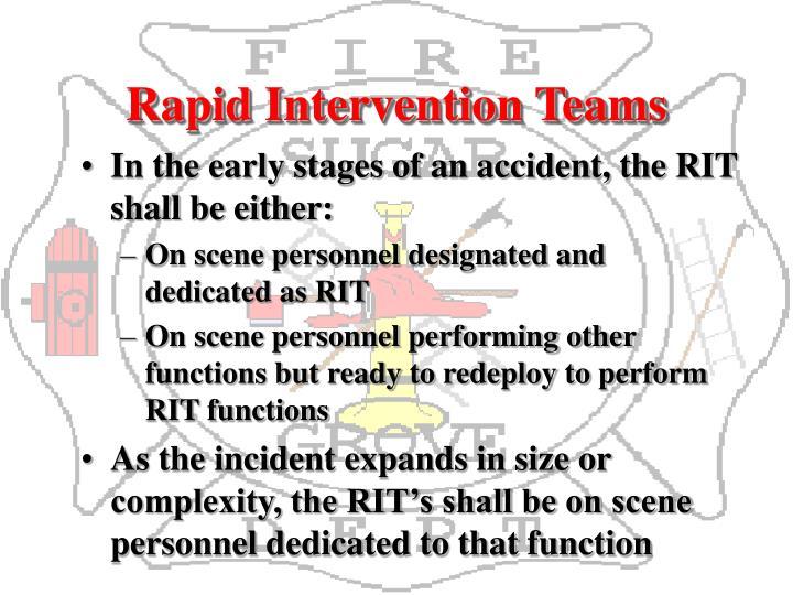 Rapid Intervention Teams