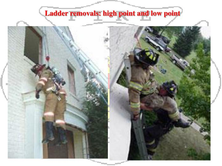 Ladder removals: high point and low point