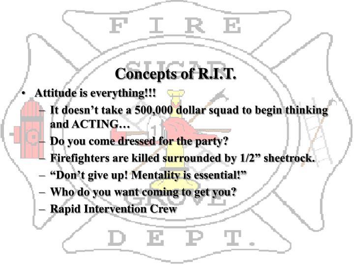 Concepts of R.I.T.