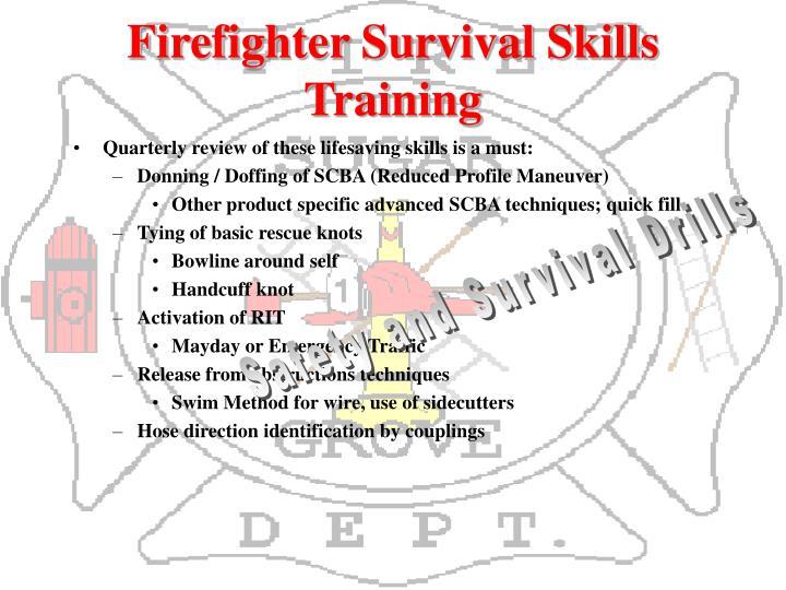 Firefighter Survival Skills Training
