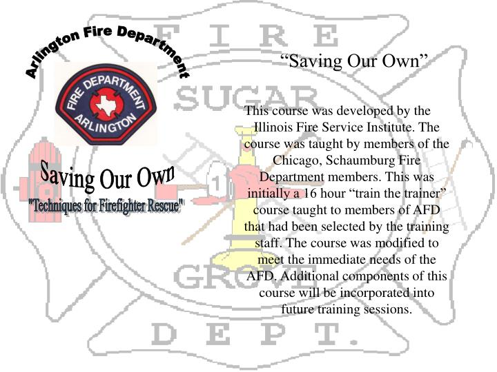 """""""Saving Our Own"""""""