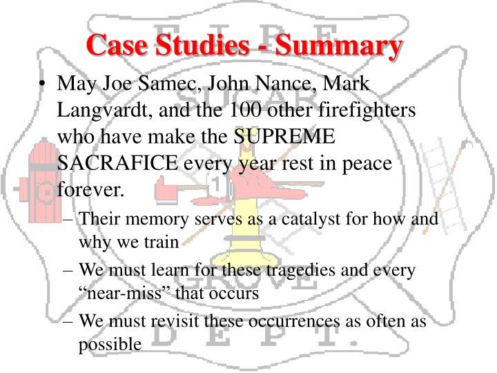 Case Studies - Summary