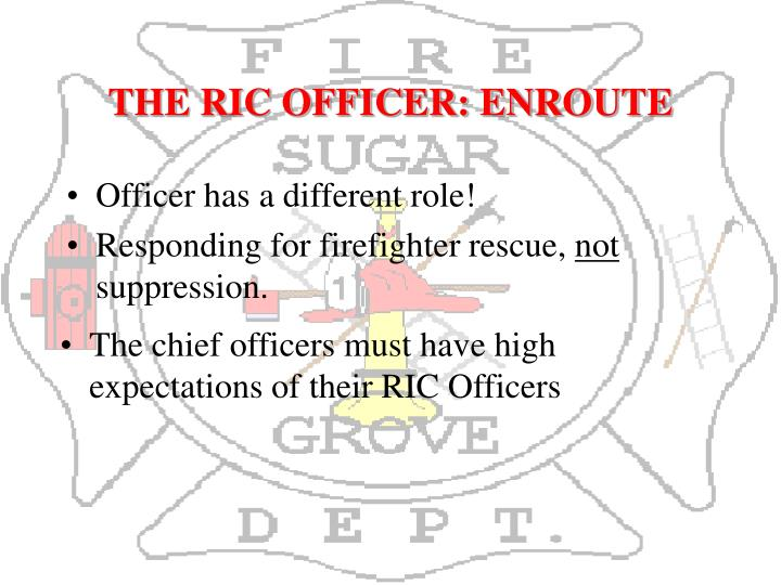 THE RIC OFFICER: ENROUTE