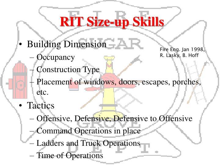 RIT Size-up Skills