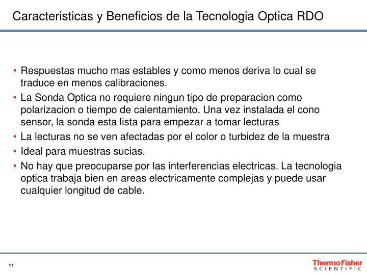 Caracteristicas y Beneficios de la Tecnologia Optica RDO