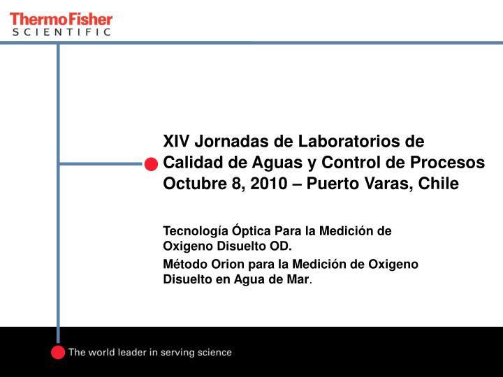 XIV Jornadas de Laboratorios de Calidad de Aguas y Control de Procesos