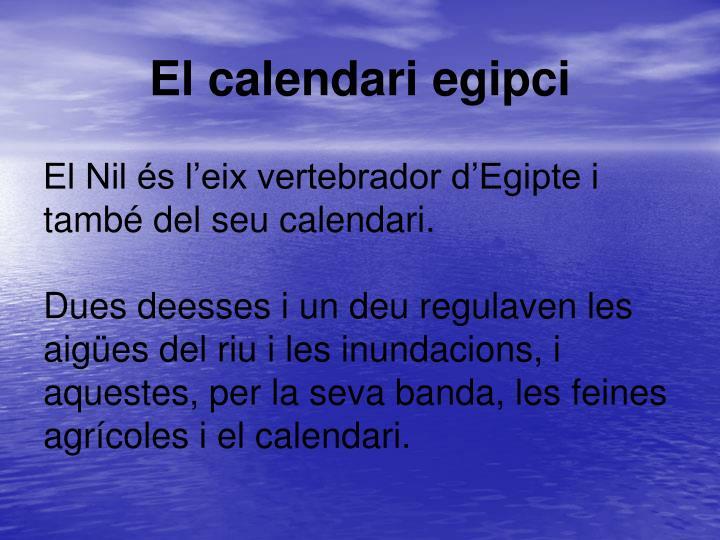 El calendari egipci
