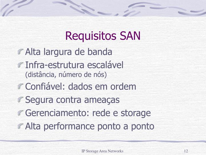 Requisitos SAN