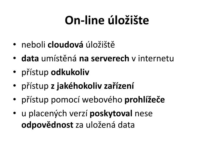 On-line úložište