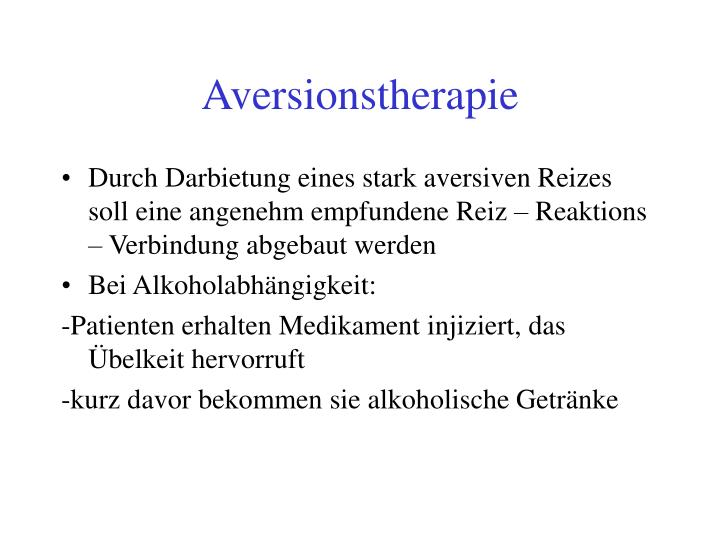 Aversionstherapie