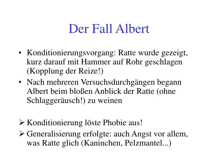 Der Fall Albert
